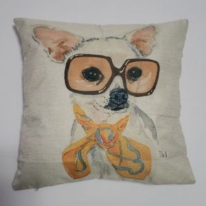 NEW Decor Accent Pillow Chihuahua Dog Trendy Chic